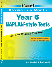 EXCEL REVISE IN A MONTH - YEAR 6 NAPLAN*-STYLE TESTS FREE SHIPPING 9781741254259
