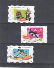 lot 3 timbres oblitérés validité permanente 2009 série Looney tunes