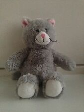 Build A Bear Grey And White Cat Soft Plush Toy Approximately 17.5 Inches