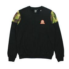 LRG Mens Lifted 47 Crew Fleece Sweatshirt Black Size S