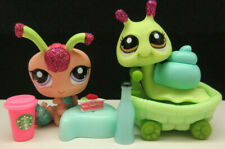 Littlest Pet Shop #2145 2218 Sparkle Centipede & Green Glitter Snail Accessories