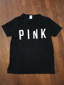 Victoria Secret PINK t-shirt v-neck M black