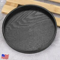 21/30cm Round Wood Serving Tray Wooden Plate Tea Food Server Coffee Dish Platter
