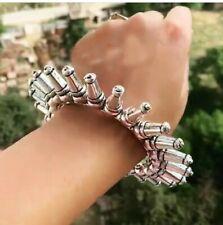 Bollywood Indian Bridal Wedding Style 2 Hands Bangles Set Silver Plated Kada