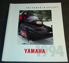 VINTAGE 1994 YAMAHA SNOWMOBILE FULL LINE SALES BROCHURE 36 PAGES VERY NICE (903)