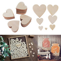 Unfinished Natural Crafts Supplies Wood Slices Wedding Ornaments Love Heart DIY