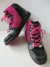 HELLO KITTY ° coole Boots Gr. 35 schwarz-pink Mädchen Schuhe Halbschuhe Sneakers