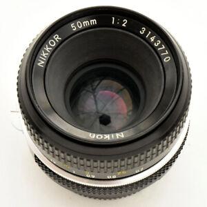 Nikon Nikkor 50mm f/2 AI Converted spr shp Lens. Exc+++. Tst'd. See Test Images