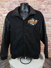 Vintage Ski Doo SnoGear Snowmobile Leather Letterman Varsity Jacket Mens Size XL