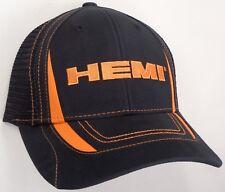 Hat Cap Licensed Hemi Black Mesh Orange Accent CF