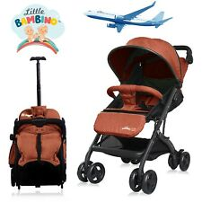 Orange Stroller for Kids Lightweight Buggy Easy Fold Travel Stroller Buggy UK