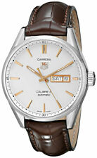 Tag Heuer Carrera Calibre 5 Day-Date Auto Brown Leather Men Watch WAR201D.FC6291
