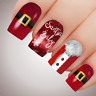 Red SANTA BABY Christmas Nail Decal Xmas Water Transfer Sticker Tattoo