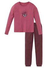 Schiesser Schlafanzug Pyjama lang Mädchen Baumwolle Bündchen Interlock NEU