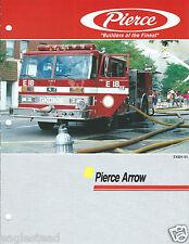 Fire Equipment Brochure - Pierce - Arrow - Skokie E18 - c1991 (DB191)