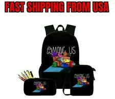 NEW Among Us Game 3pcs/Set Backpack Bookbag School Bags Travel High Quality 2020