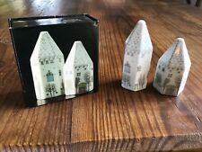 ROSENTHAL PORCELAIN Salt Pepper  Winter Journey HOUSES Rut Bryk Polygon -Perfect
