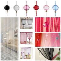String Curtain Crystal Beads Tassel Door Window Panel Fringe Room Divider Decor