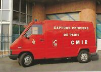 Postcard showing a French Fire Service Mobile Cell Radiological Unit in Paris