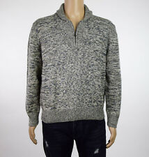 Weatherproof Vintage Mens Natural Shawl-Collar 1/4 Zip Chunky Sweater XL