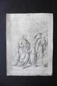 ITALIAN-BOLOGNESE SCHOOL 18thC - RELIGIOUS SCENE ATTR. FRATTA - INK-CHARCOAL