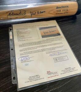 Hank Aaron Autographed Baseball Bat JSA Authenticated ! Signed Hank Aaron Bat