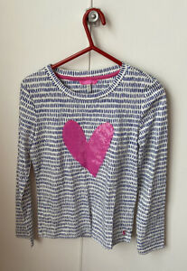 Joules Girls Blue And White Top Ages 11-12