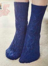 KNITTING PATTERN Ladies & Mens Cable Socks Mistake Rib Wendy 4 ply PATTERN