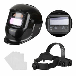 Auto Darkening Welding Helmet Welder Mask Arc Tig Mig Grinding Solar Free 5 Lens