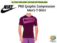 Nike Pro Compression Graphic Top Men'sTraining  Short Sleeve Dri-Fit 940253-652