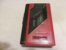 Vintage SHARP Red Portable AM/FM Radio Cassette Player JC-128(R) - SEE BELOW!
