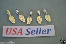100 Glue-On Pendant Bails, Jewelry Making, Sterling Silver Plate, Glue On, USA