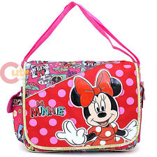 Disney Minnie Mouse School Messenger Shoulder  Diaper Bag - All Over Comic Book