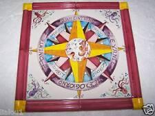 Lotto 4 mattonella piastrella ceramica Vietri ROSA DEI VENTI R Positano