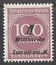 Deutsches Reich MiNr. 331 b ** Marke vom Bogen  Typbestimmung von INFLA BERLIN