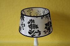 Lampenschirm Aufsteckschirm Stoff schwarz-weiß   3525-6400