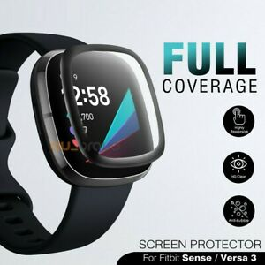 For Fitbit Sense/ Versa 3 Screen Protector 9H Tempered Full Coverage Glass Guard