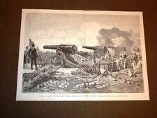 Grandi manovre militari di Verona nel 1887 Finto assedio con obici da 21 cm
