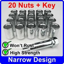 20 x SLIM THIN NARROW TUNER NUTS FOR SUBARU WITH AFTER-MARKET ALLOY WHEELS [TU5]