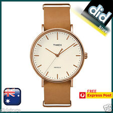 Timex Weekeder Fairfield Brown Leather Watch TW2P91200, EXPRESS POSTAGE 1-2 DAYS