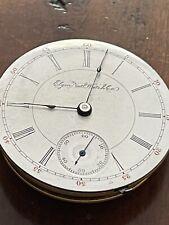 Repair Staff Works,Face Perf. 17 J. Antique Elgin Nat'l Watch Co.Movement Needs