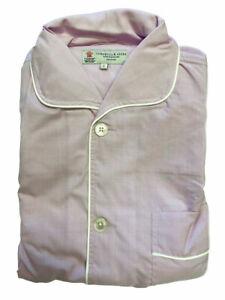 Turnbull & Asser Men's Purple Poplin Check 2-Pc Pyjama Set PYR2732 Sz S $570 NEW