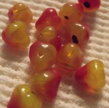 VINTAGE GLASS PEAR BEADS