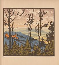 Original Art Deco wood engraving PARMA LEOPOLD (1891-1968) Czech