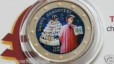 2 euro 2015 Italia fdc smaltato colorato italie italien italy Dante Alighieri