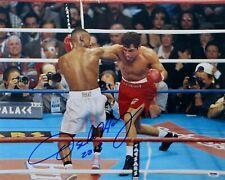 Oscar De La Hoya Signed Autographed 16X20 Photo Throwing Right Punch PSA AD89336