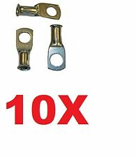 10x 35mm²-M10,Crimp or Solder tube RING  Battery Cable Lugs Starter Terminals