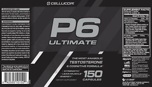 Cellucor P6 Ultimate 150 Caps 🔥🔥🔥L👀K HERE FREE SHIPPING!! BBD 6/2022!!🔥🔥🔥