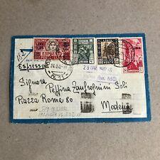 F) Bustavia aerea espresso colonie Libia franchigia posta militare 11 1942