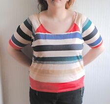 New Look Plus Size Striped Casual Tops & Shirts for Women